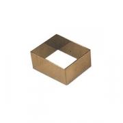 Форма конд. «Прямоугольник», сталь нерж., H=30,L=61,B=61мм, металлич.