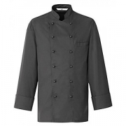 Куртка поварская,разм.48 б/пуклей, полиэстер,хлопок, серый