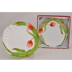 Набор из 2-х закусочных тарелок «Тюльпаны» 20 см