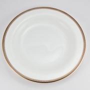 Набор 6 тарелок десертных 21см «Золотая вышивка»