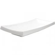 Тарелка для суши 32*14см белая фарфор