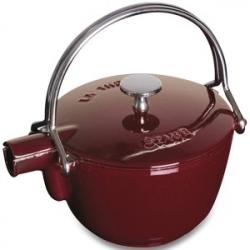 Чайник чугунный 1,15 л, цвет темно-красный