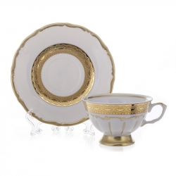 Набор для чая 200 мл. на 6 перс. 12 пред. «Лента золотая матовая1»