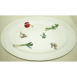 Овальное блюдо «Овощи» 42х28 см