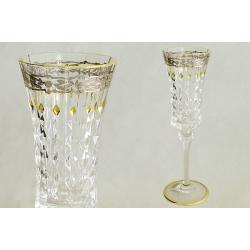 Набор из 6 хрустальных бокалов для шампанского «Старая Флоренция» 125 мл