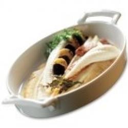Блюдо овальное, 28х19х4,5 см, фарфор, цвет белый
