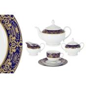 Чайный сервиз 23 предмета на 6 персон Вайден (кобальт)