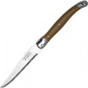 Нож для стейка сталь нерж. , пластик; св. корич.
