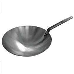 Сковорода «Вок» d=35.5см белая сталь