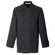 Куртка поварская,р.50 без пуклей, полиэстер,хлопок, черный