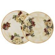 Набор тарелок: суповая + обеденная Роза и малина