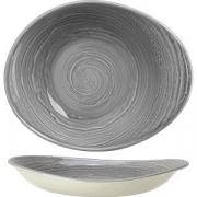Салатник «Скейп грей» D=24см; серый