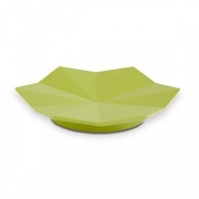 Блюдо фуршетн. на ножке D=17.5, H=2.5см; зелен.