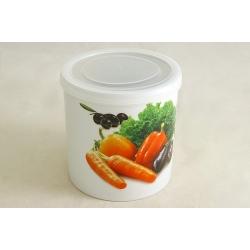 Банка для сыпучих продуктов 12 см «Овощное ассорти»
