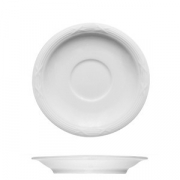 Блюдце «Штутгарт», фарфор, D=18см, белый