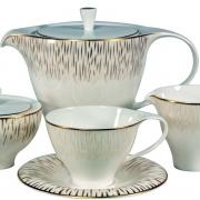 Набор 6 чайных пар 250мл «Голден глоу»