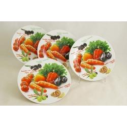 Набор из 4-х тарелок «Овощное ассорти» 19 см