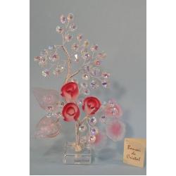Бонсай с розами розовый 24см