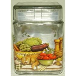 Банка для сыпучих продуктов «Ленивый повар» 1,24 л/ 15 см