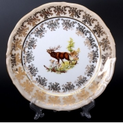 Набор тарелок «Охота медовая» 24 см. 6 шт.