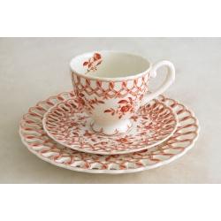 Набор чашка, блюдце, десетрная тарелка «Верона»