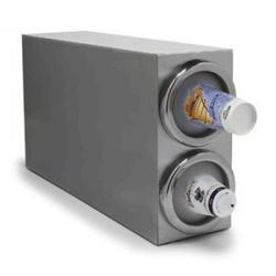 Диспенсер для пласт.стаканов+4 уплотн.кольца; сталь нерж.,силикон; H=35.5,L=63.5,B=17.8см