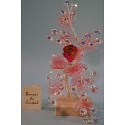 Бонсай с розой розовый 20 см