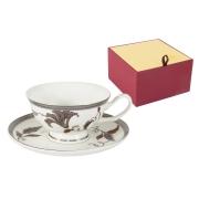 Чашка с блюдцем Серебряный лист