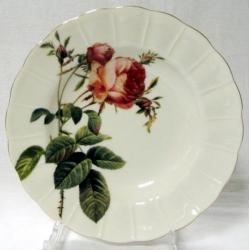 Набор из 6 суповых тарелок «Роза Альба» (красная) 20 см