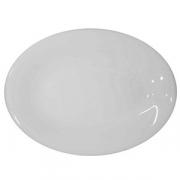 Блюдо овальное «Это», фарфор, H=30,L=330,B=235мм, белый