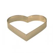Форма конд. «Сердце», сталь нерж., D=180,H=35мм