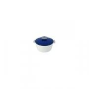 Кастрюля для сервировки с крышкой «Революшн» D=19, H=12.5см; белый, синий