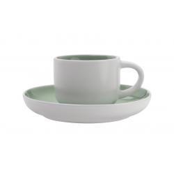 Чашка кофейная с блюдцем Оттенки (мятная) без инд.упаковки