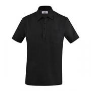 Рубашка поло мужская,размер S, хлопок,эластан, черный