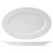 Блюдо овальное «Кунстверк», фарфор, H=16,L=260,B=170мм, белый