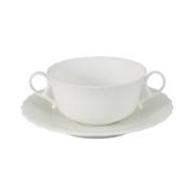 Суповая чашка на блюдце Шёлк