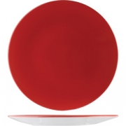 Тарелка «Фиренза ред» 25.5см фарфор
