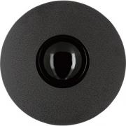 Тарелка с широк. краем «Солид» D=30.3см; серый, черный