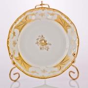 Набор тарелок 15 см. 6 шт. «Кленовый лист белый»