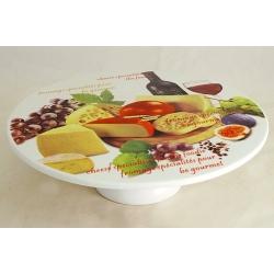 Блюдо на ножке «Сыр, вино и виноград»