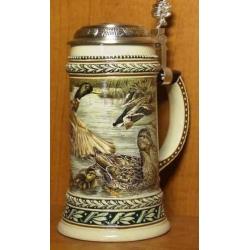 Пивная керамическая кружка «Селезень» Объем - 0,5 л