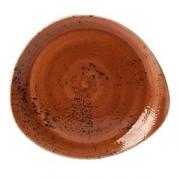 Тарелка мелкая «Крафт», фарфор, L=30.5см, терракот