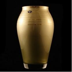 Ваза 24,5 см; «Золотая лента»; золотая, матовая