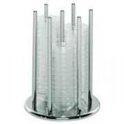 Подставка для соусников + 60соусников, сталь нерж.,стекло, D=20.5,H=26см