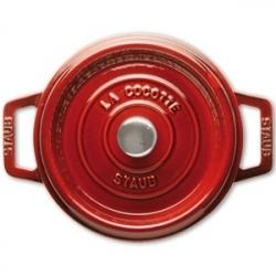 Кастрюля с крышкой чугунная, dia 22 см, 2,6 л, цвет темно-красный