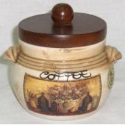 Банка для кофе с деревянной крышкой «Натюрморт» 0,5 л