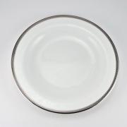 Набор 6 тарелок десертных 21см «Серебрянная вышивка»
