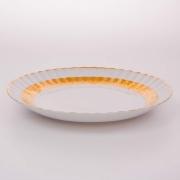 Блюдо «Лента Рельеф золото» 32 см