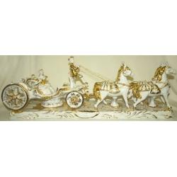 Статуэтка «Карета с четверкой лошадей»