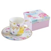 Чашка с блюдцем для кофе Любовь в подарочной упаковке
